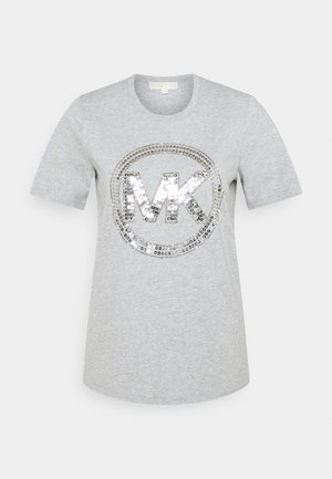 T-shirts print - pearl heather