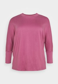 Simply Be - HIGH NECK LONG SLEEVE - Long sleeved top - plum - 0