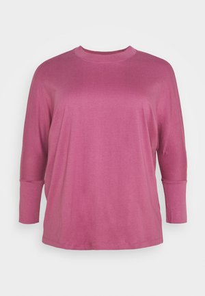 HIGH NECK LONG SLEEVE - Long sleeved top - plum