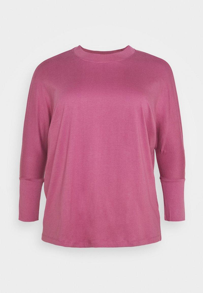 Simply Be - HIGH NECK LONG SLEEVE - Long sleeved top - plum