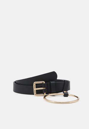 PCNINA WAIST BELT - Midjebelte - black/gold-coloured
