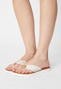 Tommy Hilfiger - BEACH  - T-bar sandals - ecru - 0