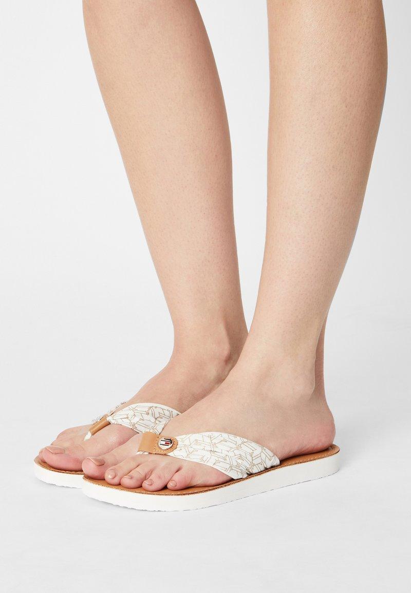Tommy Hilfiger - BEACH  - T-bar sandals - ecru