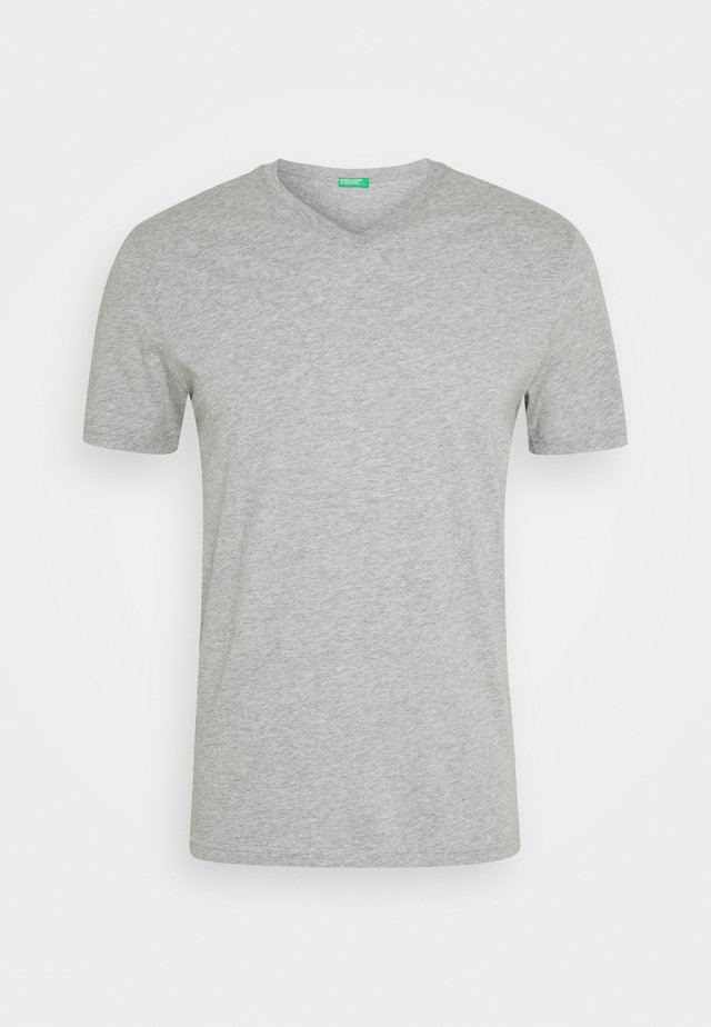 BASIC VNECK - T-shirts basic - light grey