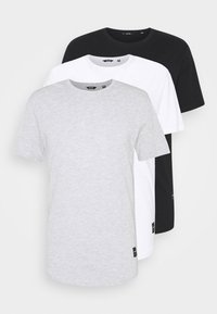 Only & Sons - 3 PACK - T-shirt basic - black/white/light grey melange - 5