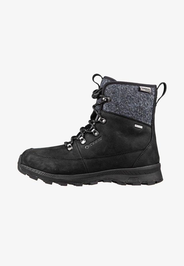 ADAK M MICHELIN WIC - Lace-up ankle boots - black grey