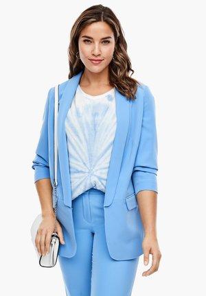 SAKKO MIT SCHALKRAGEN - Short coat - blue