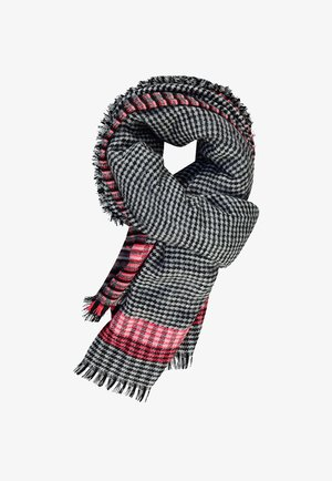 Scarf - black aop w/ white