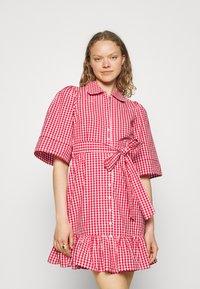 byTiMo - CHECKS KITCHEN DRESS - Shirt dress - red - 0