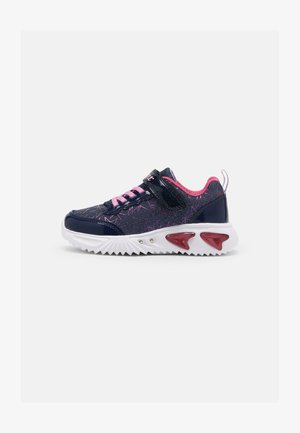 J ASSISTER GIRL - Sneakers basse - navy/fuchsia