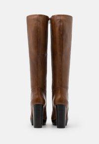 Steven New York - JAMILA - High heeled boots - cognac - 3