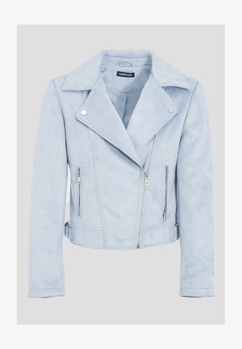 Faux leather jacket - bleu clair
