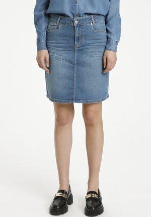 A-line skirt - light blue random wash