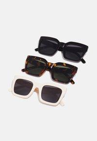 SUNGLASSES SKYROS UNISEX 3 PACK - Sunglasses - brown/black/white
