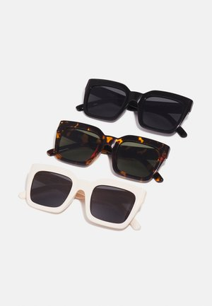 SUNGLASSES SKYROS UNISEX 3 PACK - Occhiali da sole - brown/black/white