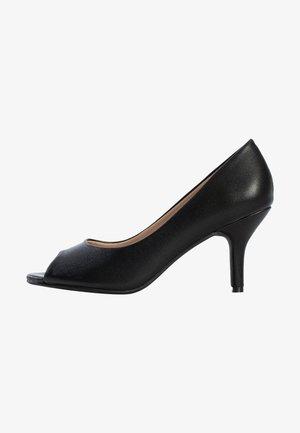 CECILIA - Peep-toes - black