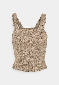 Abercrombie & Fitch - SMOCK WAIST CAMI - Blouse - brown - 4