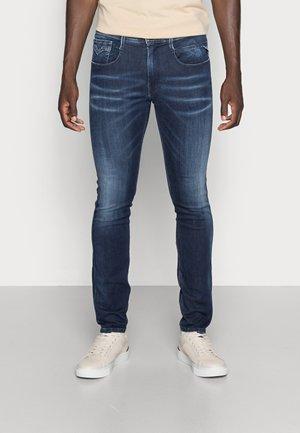 ANBASS SHADES - Jean slim - dark-blue denim