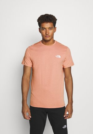 MENS SIMPLE DOME TEE - Jednoduché triko - pink clay