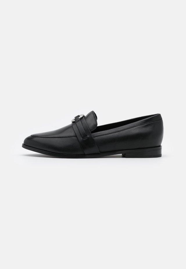 LEATHER - Slip-ons - black