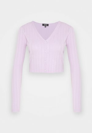 SKINNY CARDIGAN - Long sleeved top - lilac