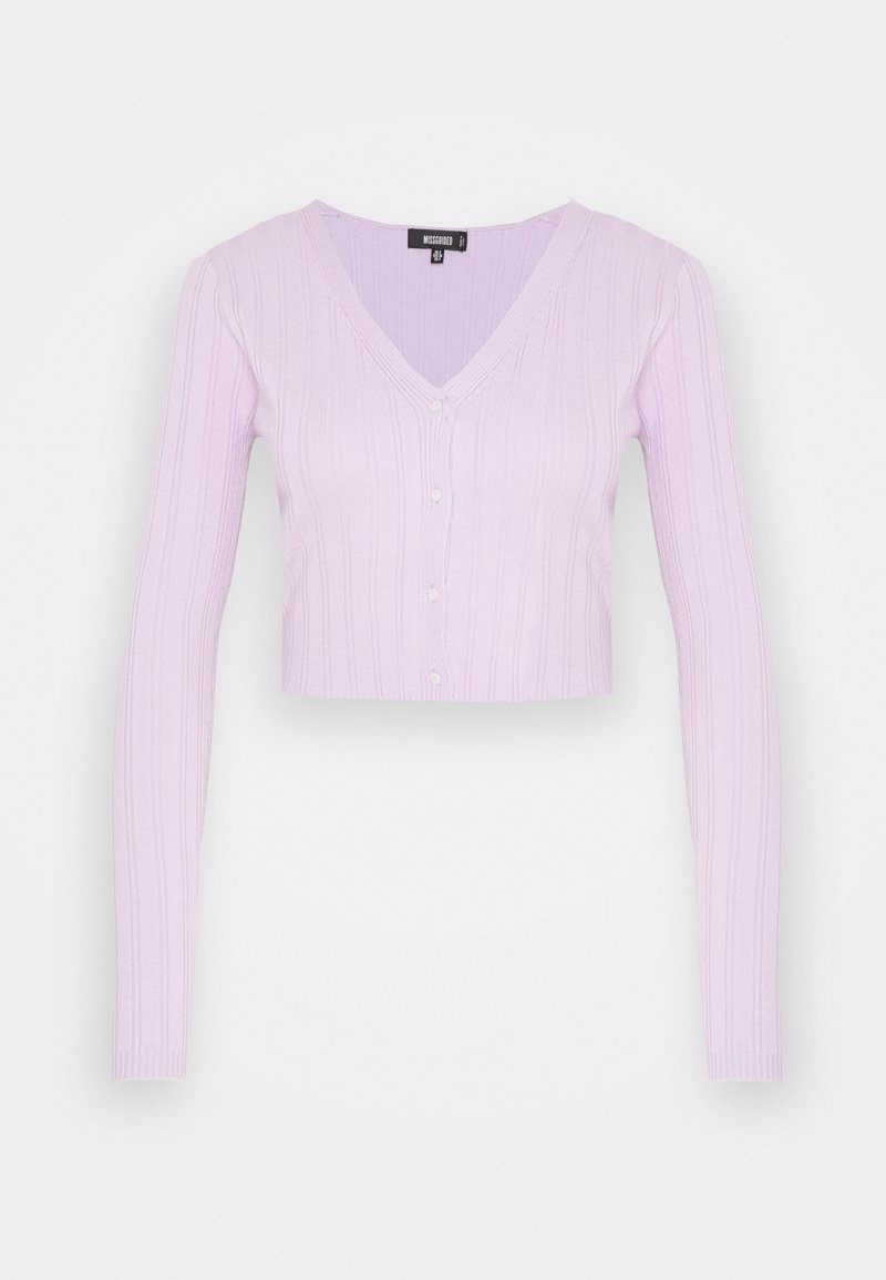 Missguided - SKINNY CARDIGAN - Topper langermet - lilac