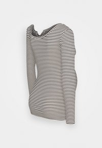 Pieces Maternity - PCMBANO - Long sleeved top - whitecap gray/black - 1