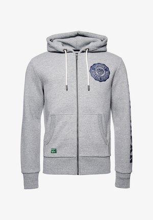 Zip-up hoodie - soft grey marl
