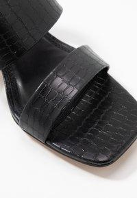 Topshop - DINA BLOCK MULE - Mules à talons - black - 5