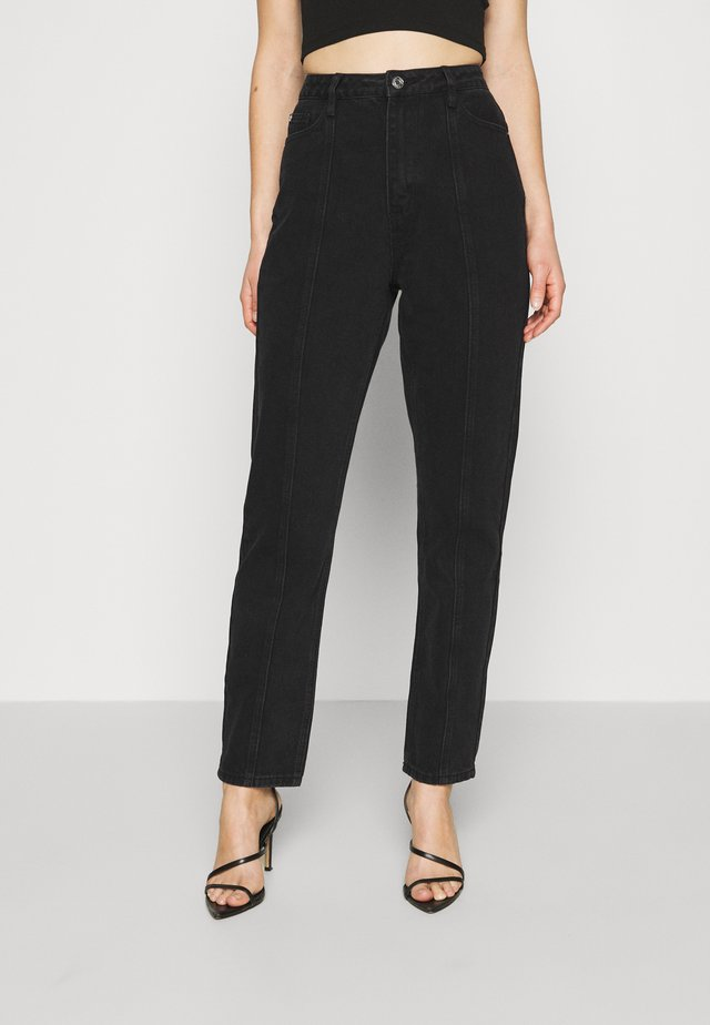 SEAM DETAIL - Straight leg jeans - washed black