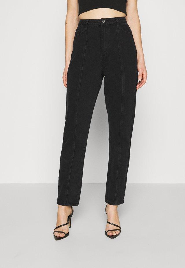 SEAM DETAIL - Straight leg jeans - washed black