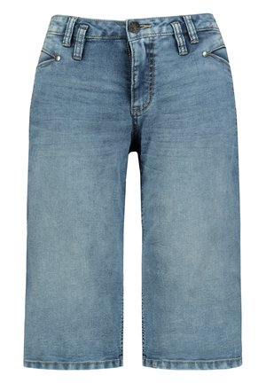 GINA LAURA DAMEN JEANS, 4-POCKET-SCHNITT, SCHMALES BEIN  - Denim shorts - blue bleached