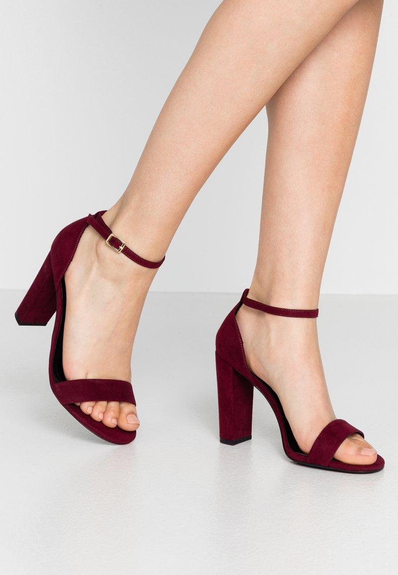 New Look Wide Fit - WIDE FIT TARONA - Sandaler med høye hæler - dark red