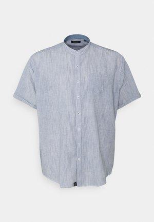 MANDARIN STRIPED SHIRT - Shirt - navy