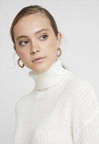 Missguided - ROLL NECK BASIC DRESS - Jumper dress - off white - 3