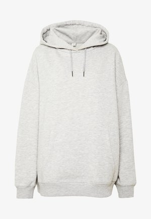 OVERSIZED HOODIE - Sweat à capuche - grey melange