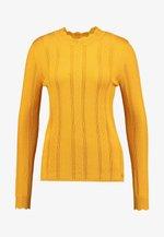 STRUCTURED MOCK NECK - Jumper - sunflower yellow