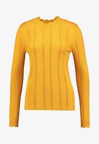 TOM TAILOR DENIM - STRUCTURED MOCK NECK - Jumper - sunflower yellow - 4