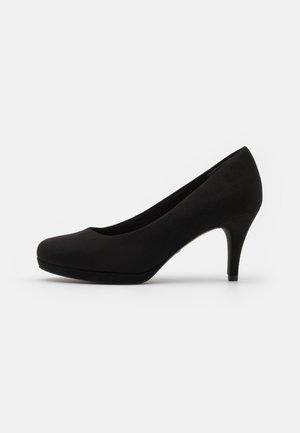 COURT SHOE - Platform heels - black