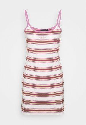 STRIPE CAMI DRESS - Žerzejové šaty - multi
