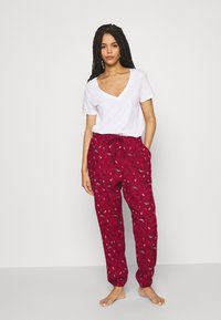 Hunkemöller - PANT CUFF - Pyjama bottoms - rumba red - 1