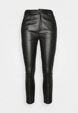 TROUSER WITH POCKET DETAIL - Trousers - black