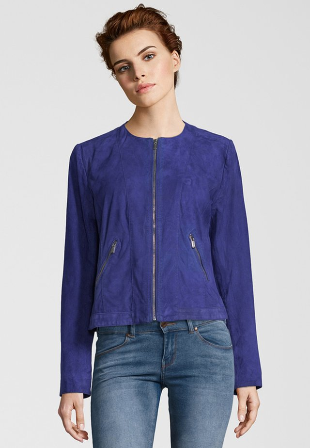 MIA ZV - Leather jacket - crown blue
