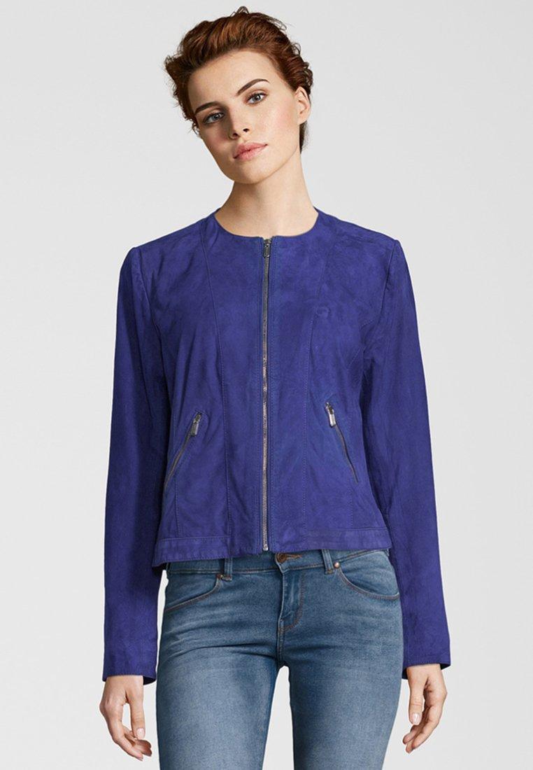 deercraft - MIA ZV - Leather jacket - crown blue