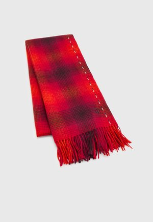 ELEVATED SCARF CHECK - Szal - red