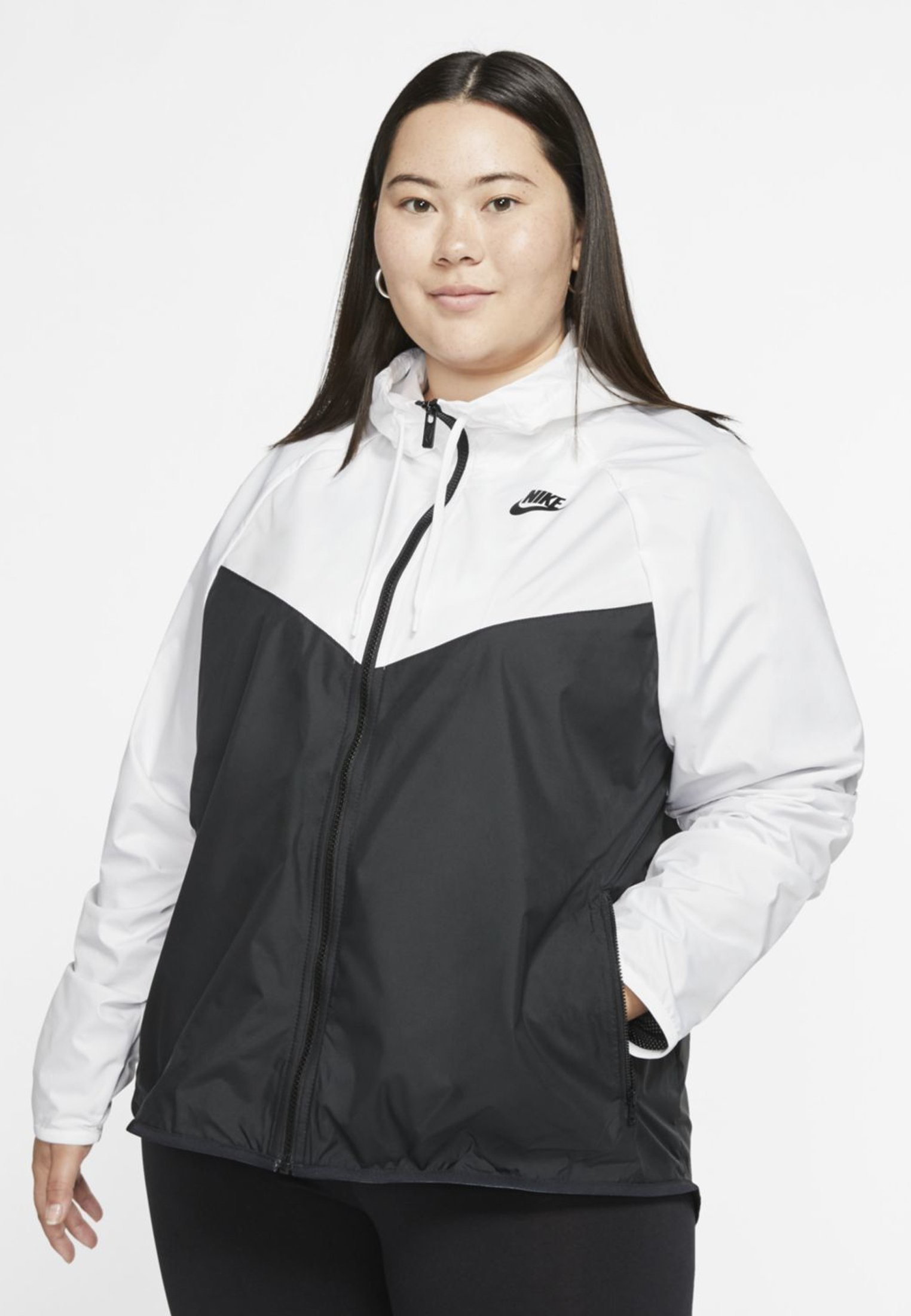 Asado Bangladesh Línea de metal  Nike Sportswear PLUS - Tunn jacka - white/black - Zalando.se