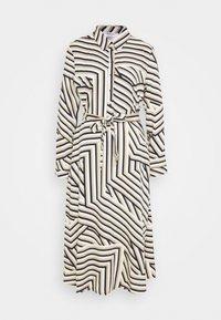 Moss Copenhagen - AVIANNA RAYE SHIRT DRESS - Denní šaty - beige/black - 5
