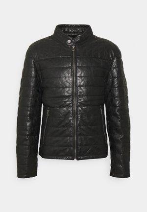 COMRIE - Leather jacket - black