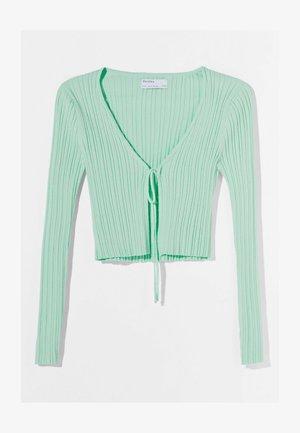 MIT SCHLEIFE - Cardigan - green