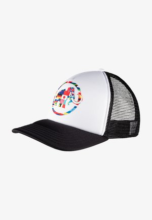 Cap - black-bright white